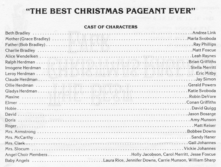 The best christmas pageant ever 1983 for The best house music ever